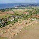 """Luftaufnahme Projektentwicklung """"Am Golfplatz"""" Warnemünde / Diedrichshagen"""