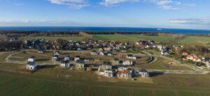 """Luftaufnahme Projektentwicklung Wohnanlage """"Am Golfplatz"""" in Warnemünde / Diedrichshagen"""