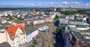 Luftaufnahme Doberaner Platz in Rostock