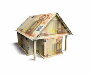 Haus aus 50 Euro Scheinen